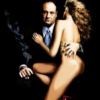 Tony Soprano Canvas Art Prints