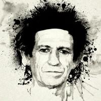 Keith Richards Canvas Print