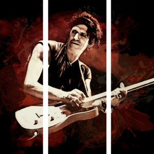 Keith Richards Triptych Canvas Print