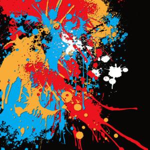 Vernice Gocciola Paint Splash Canvas Art Print