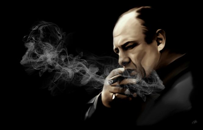 SOPRANOS Tony Soprano James Gandolfini painting CANVAS PRINT Rolled