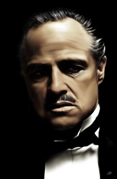 Vito Corleone The Godfather Canvas Art Print
