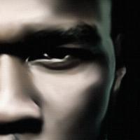 50 Cent Canvas Print Detail