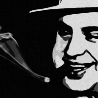 Al Capone Canvas Print Detail