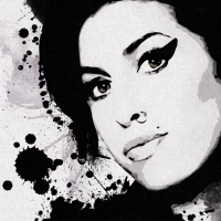 Amy Winehouse Canvas Print Detail