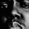 Biggie Smalls Canvas Art Print Detail