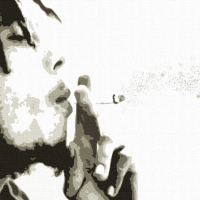 Bob Marley Pop Art Canvas Print Detail