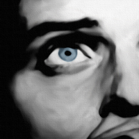 Ian Curtis Canvas Print Detail