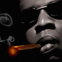 Jay Z Canvas Art Print Detail