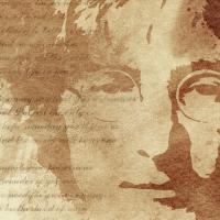 John Lennon Canvas Art Print Detail