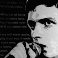 Ian Curtis, Joy Division Canvas Print Detail