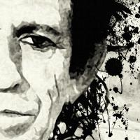 Keith Richards Canvas Print Detail