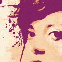 Lily Allen Canvas Print Detail