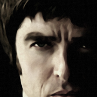 Noel Gallagher Canvas Print Detail