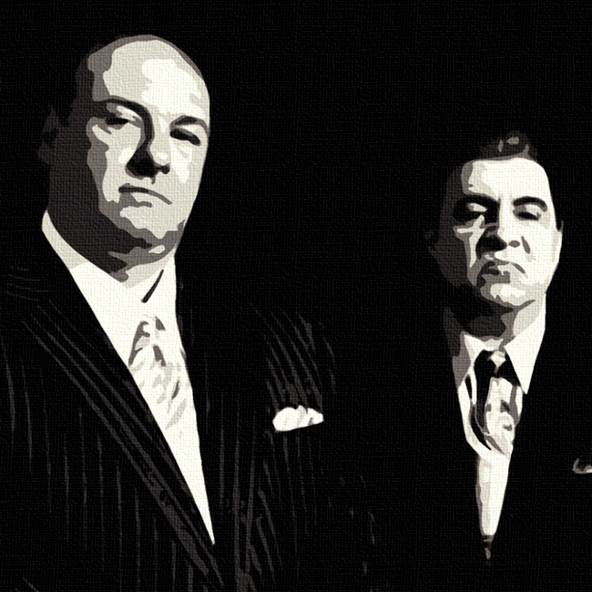 sopranos canvas art print by lja canvas art