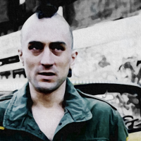 Taxi Driver Canvas Print Detail