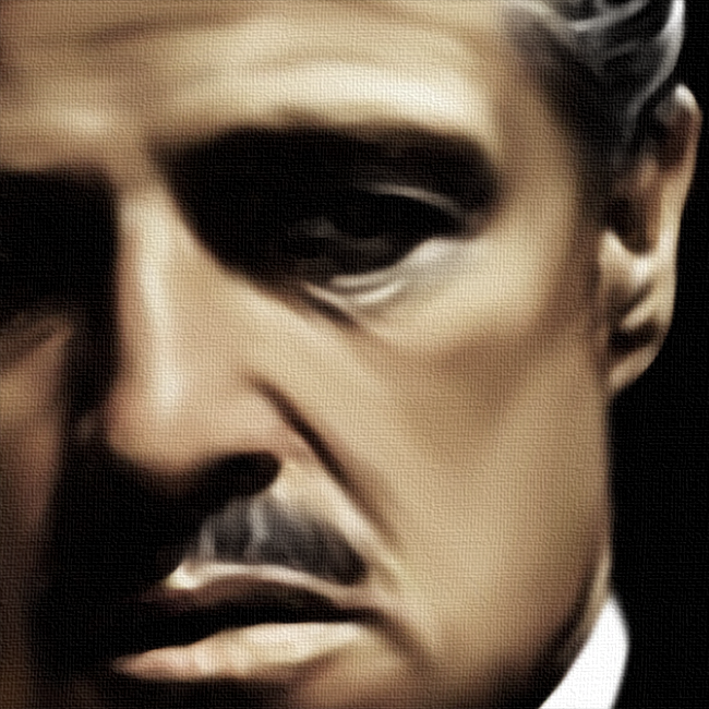 Godfather, Vito Corleone Canvas Print Detail