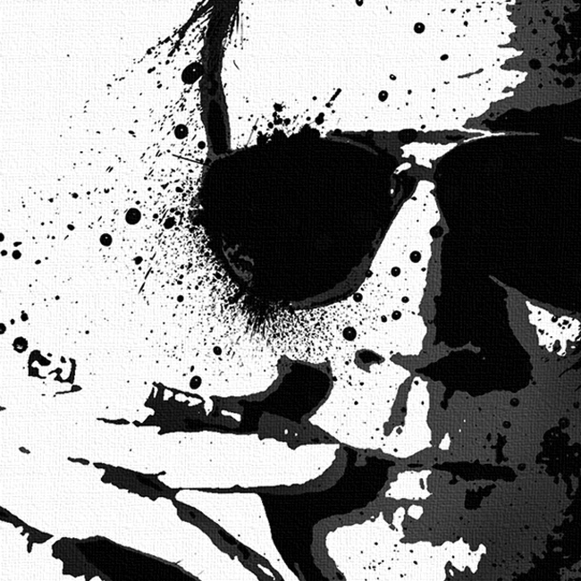 Hunter S. Thompson Canvas Print Detail