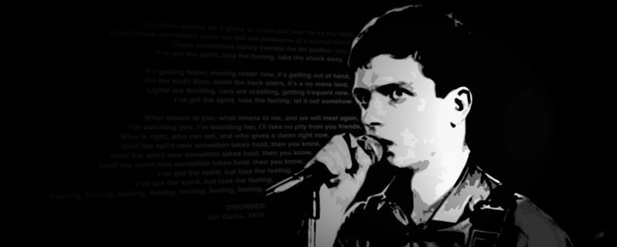 Ian Curtis Canvas Art Print