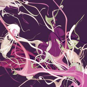 Lilac Modern Canvas Print