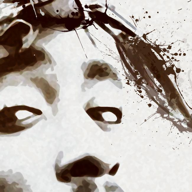 Tupac Canvas Print Detail