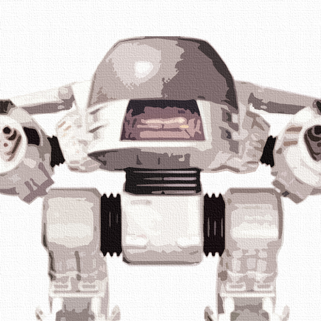 ED209 Canvas Art Print Detail