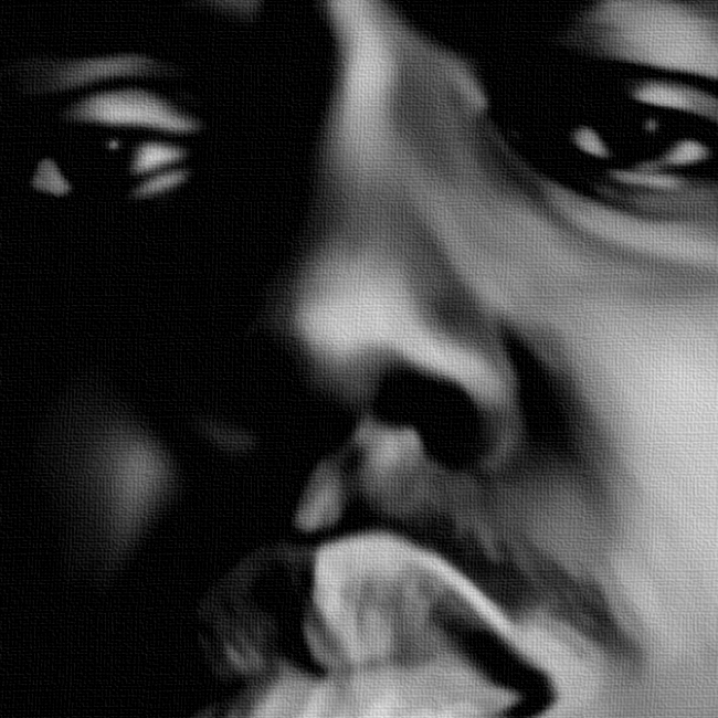 Biggie Smalls Canvas Art Print Detail