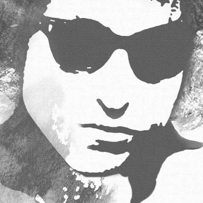 Bob Dylan Canvas Print Detail