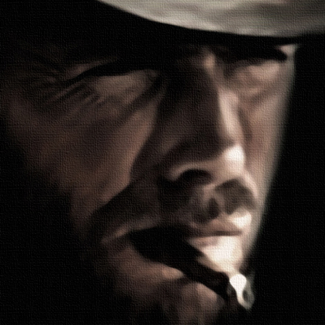 Clint Eastwood Canvas Print Detail