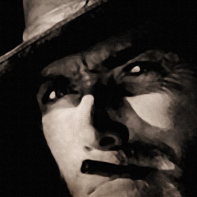 Clint Eastwood Canvas Print Detail