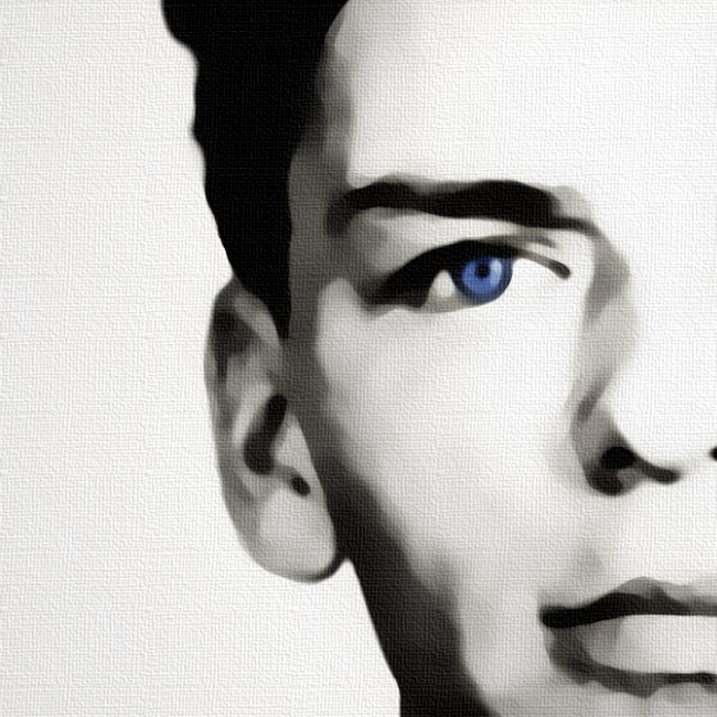 Sinatra Mugshot Canvas Print Detail