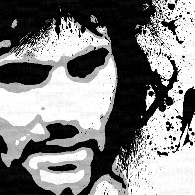 George Best Canvas Art Print Detail