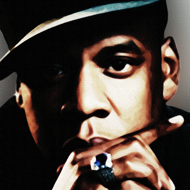 Jay Z Canvas Print Detail