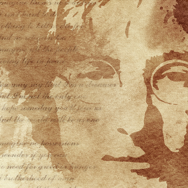 John Lennon Canvas Art Print Detail