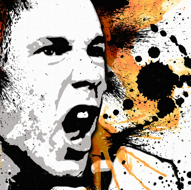 Johnny Rotten Canvas Print Detail