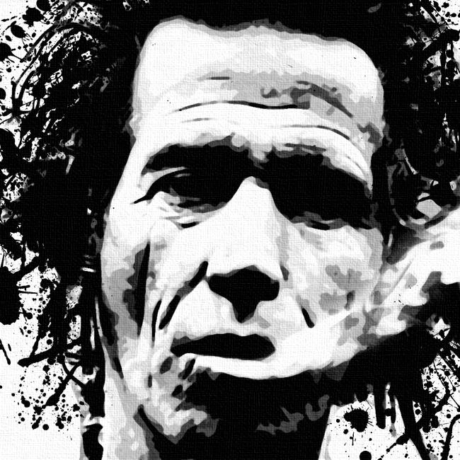 Keith Richards Canvas Art Print Detail