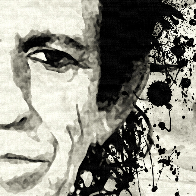 Keith Richards Canvas Print Detail