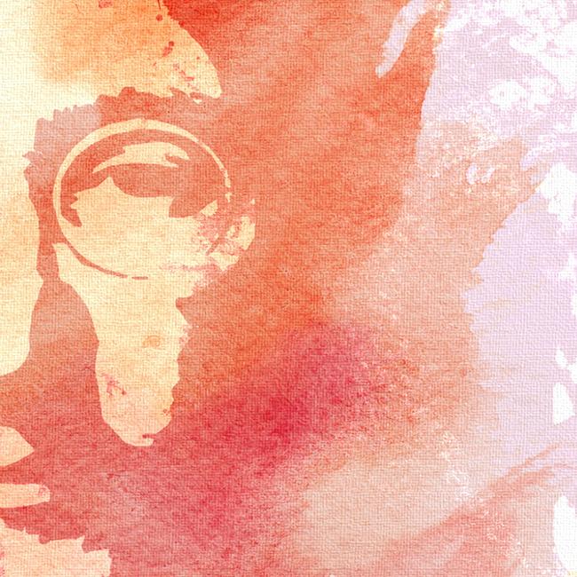 John Lennon Canvas Print Detail