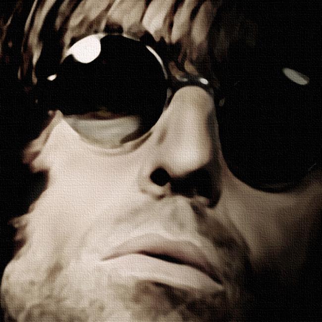 Liam Gallagher Canvas Print Detail