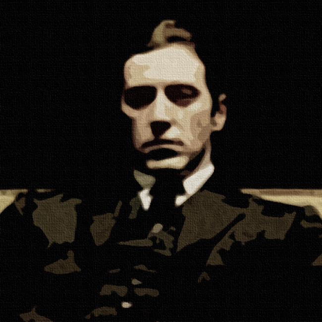 Michael Corleone Godfather Canvas Print Detail