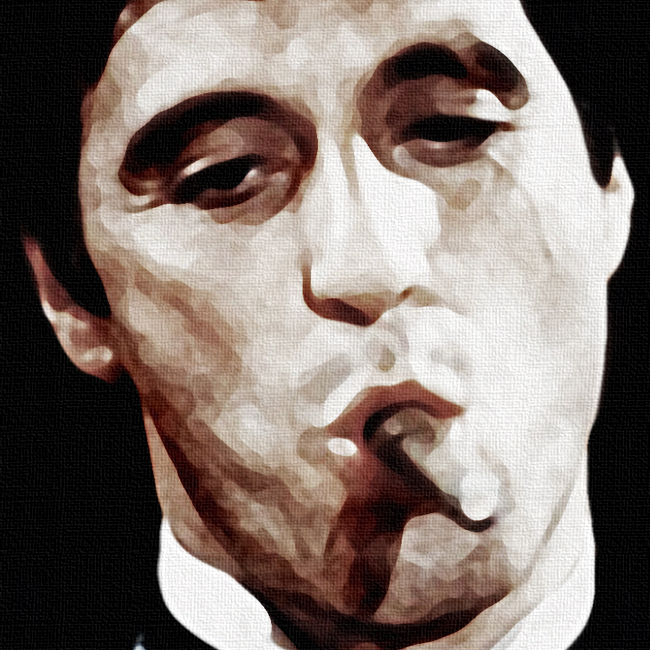 Scarface Canvas Print Detail