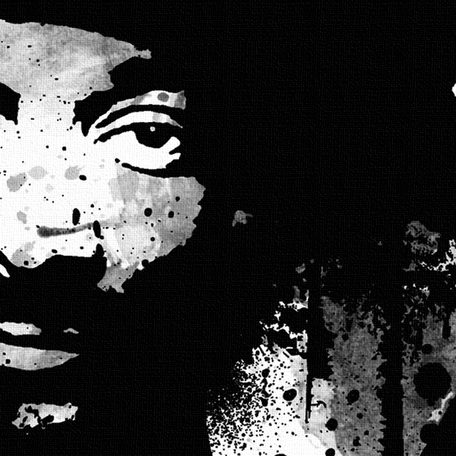 Snoop Dogg Canvas Print Detail