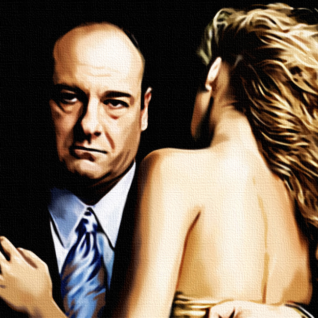 Tony Soprano Canvas Print Detail