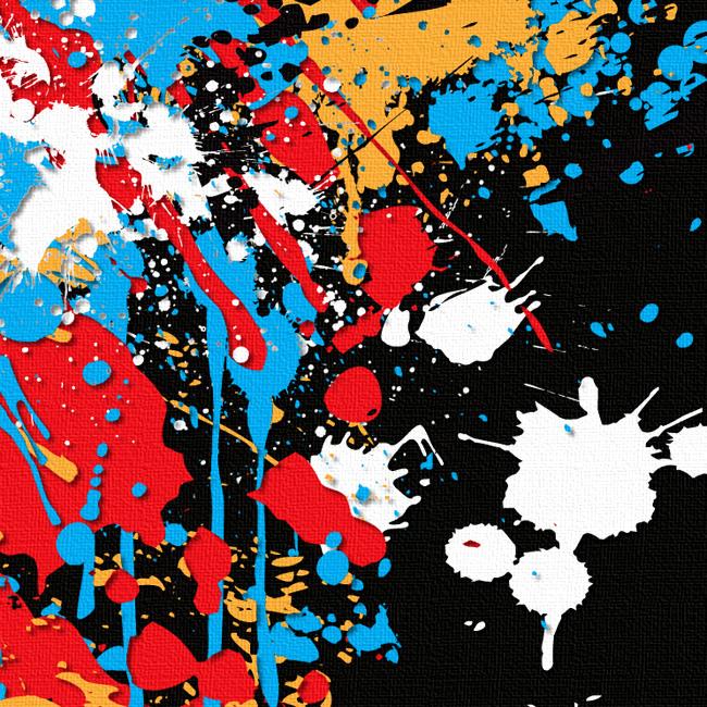 Vernice Gocciola Canvas Print Detail